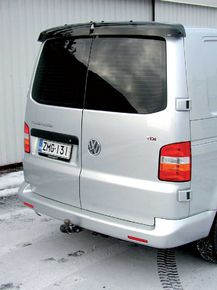 VW T5, REAR WINDOW DEFLECTOR, TWIN DOORS