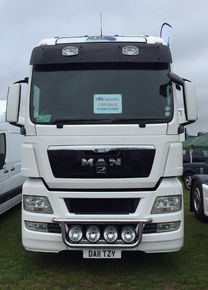 MAN TG-A/TGX XXL, SUN VISOR WITH 2 SPOTLIGHTS