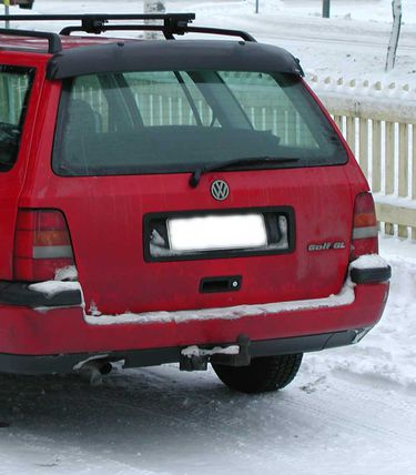 VW Golf Variant III, REAR WINDOW DEFLECTOR